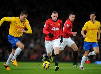 Wayne Rooney versus Southampton