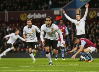 Falcao scores vs Aston Villa