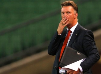 Louis van Gaal drawing board