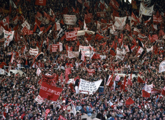 Manchester United fans in the 70s