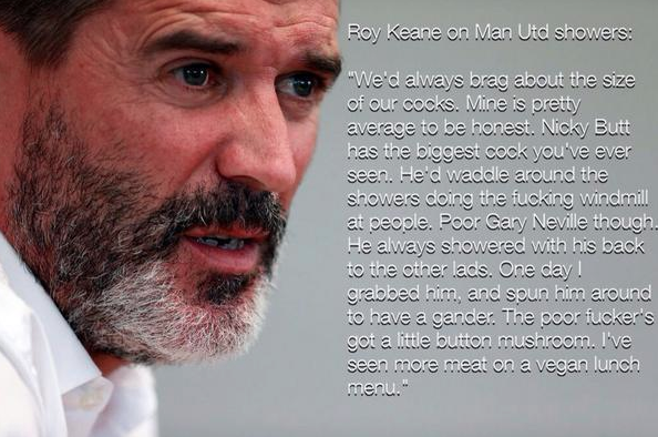 Roy Keane's face and some made up quote...