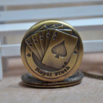 Relojes-Fashion-Bronze-Retro-font-b-Poker-b-font-Pocket-font-b-Watches-b-font-Men