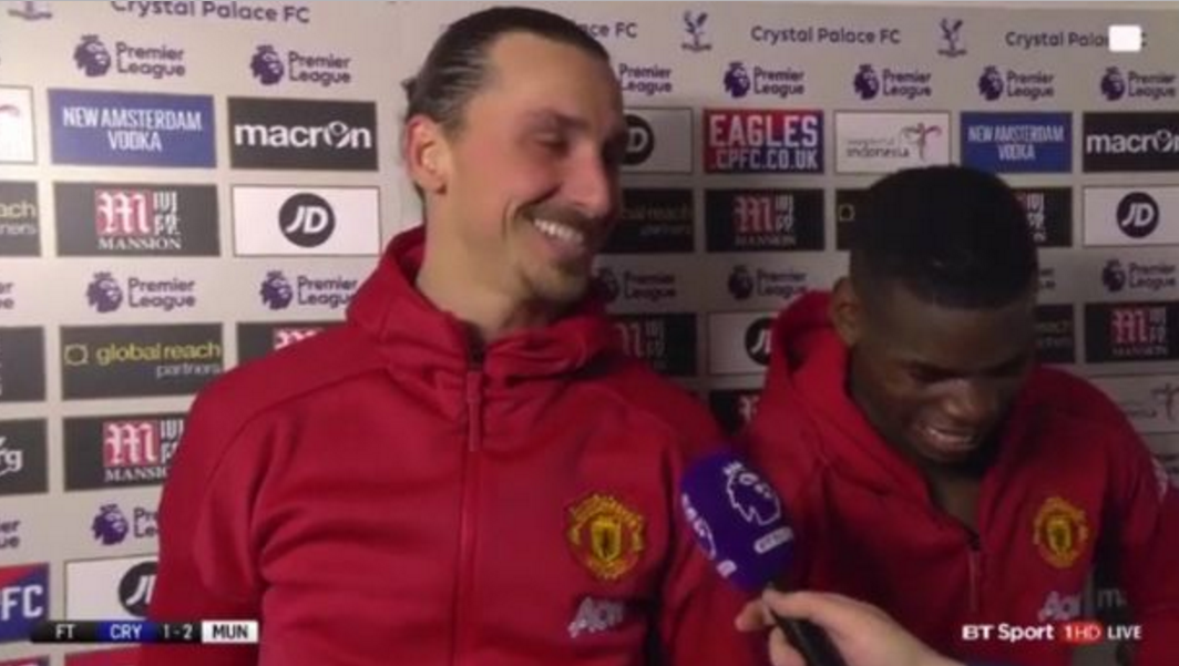 Manchester United's Paul Pogba and Zlatan Ibrahimovic wrote a happy ending to referee Craig Pawson's horror show.