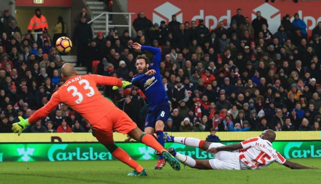 it wasn't Juan Mata's, leaving it to Wayne Rooney to rescue Manchester United