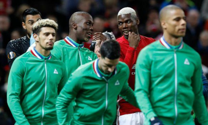 Paul Pogba letting his brother Florentin know, just prior to their Europa League match, that Zlatan Ibrahimovic will be scoring a hat trick
