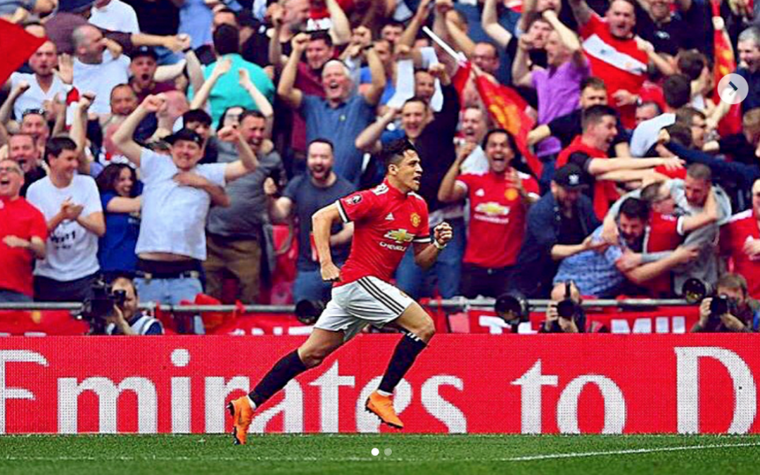 Alexis Sanchez shows excitement for FA Cup final with Instagram update