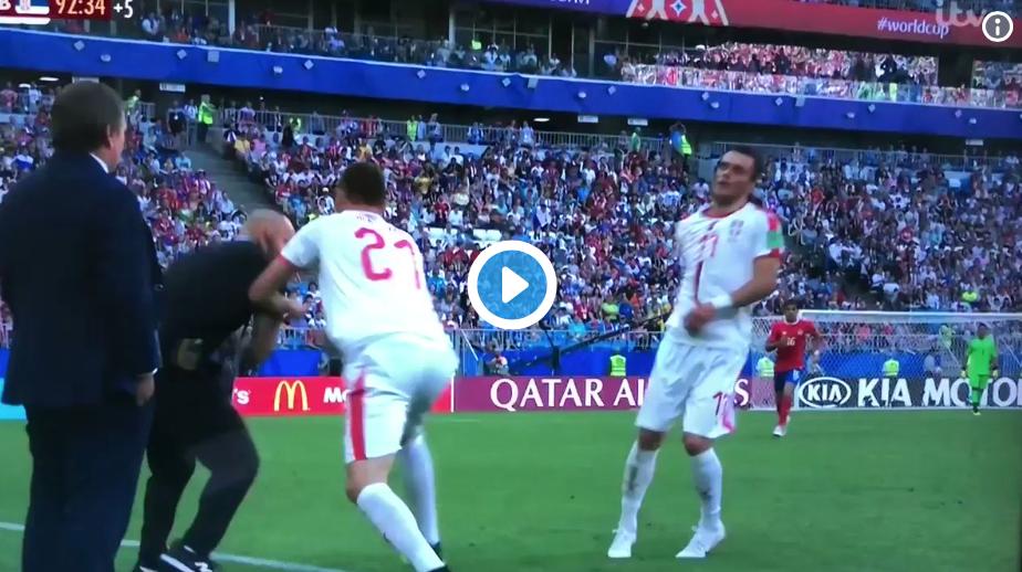 (Watch) Nemanja Matic involved in brawl with Costa Rica bench