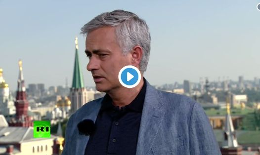 (Watch) Jose Mourinho mocks Chelsea goalkeeper after howler at World Cup
