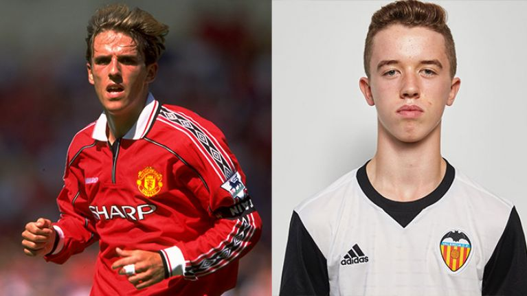 Phil Neville's son joins Man Utd academy from Valencia