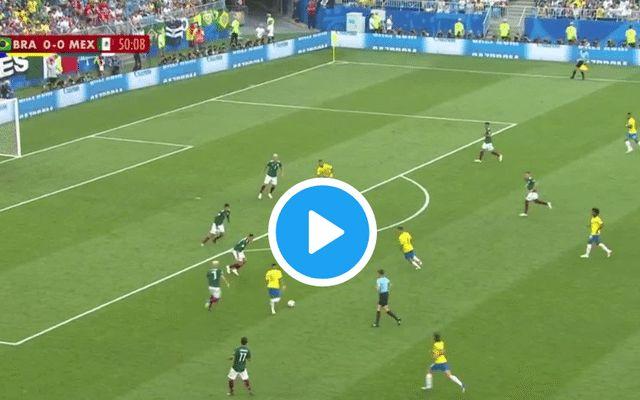 (Watch) Man Utd target provides assist as Neymar breaks deadlock for Brazil