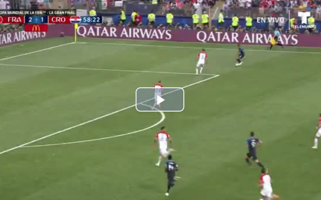 (Watch) Pogba scores potential World Cup winner for France