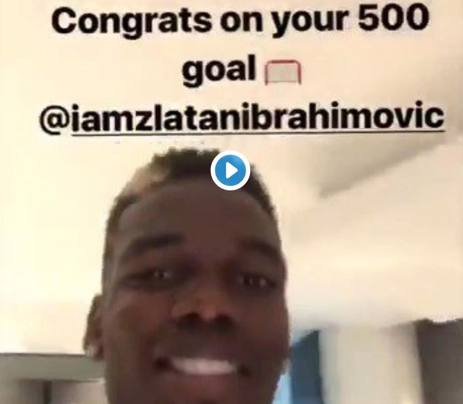 Wondergoal By Zlatan: (Watch) Pogba Wears LA Galaxy Shirt Whilst Congratulating