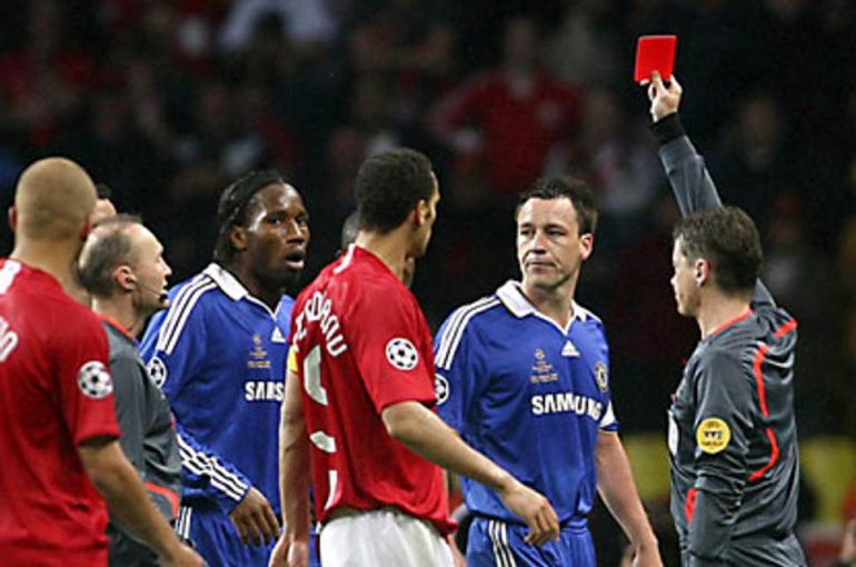 Image result for didier drogba red card moscow