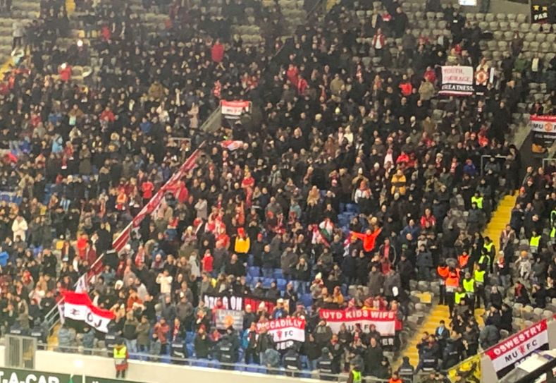 Photo Superb Support Shown By Man Utd Fans Against Fc Astana