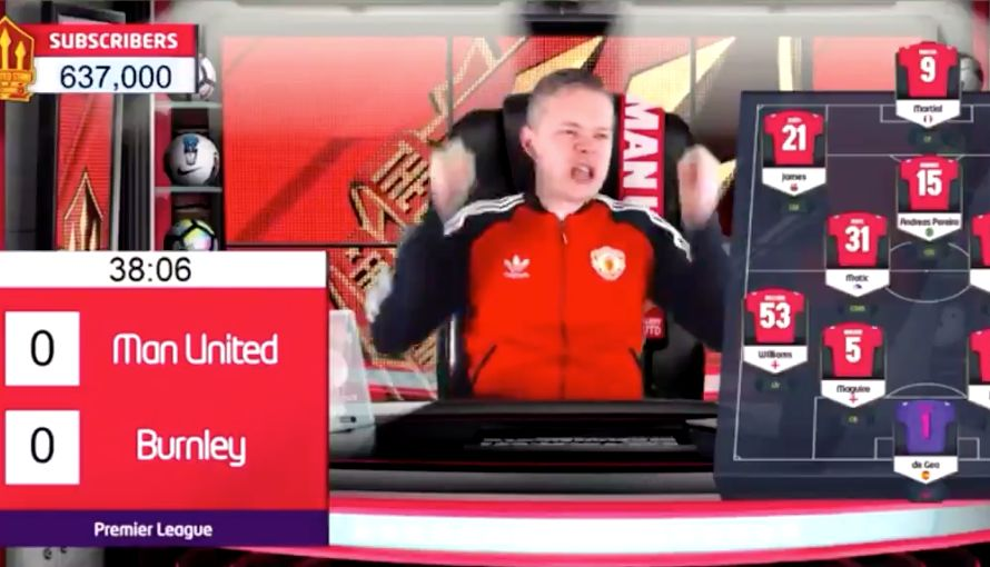 Video Mark Goldbridge Says He Hopes Burnley Get Relegated Seconds Before They Take The Lead At Old Trafford