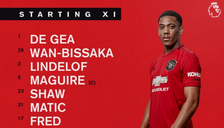 Confirmed Man Utd Line Up Vs Everton Anthony Martial Fit To Start