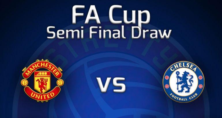 Fa Cup Semi Final Draw Manchester United Vs Chelsea