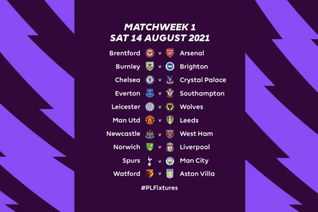 Premier League Release 2021 22 Fixture List Opening Day Includes Man United Vs Leeds United